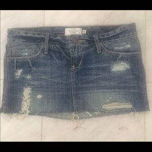 Dresses & Skirts - Abercrombie and Fitch Destroyed Jean Skirt